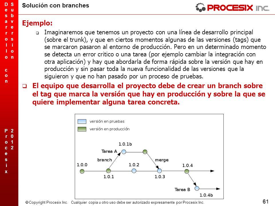 Solución con branches Ejemplo: