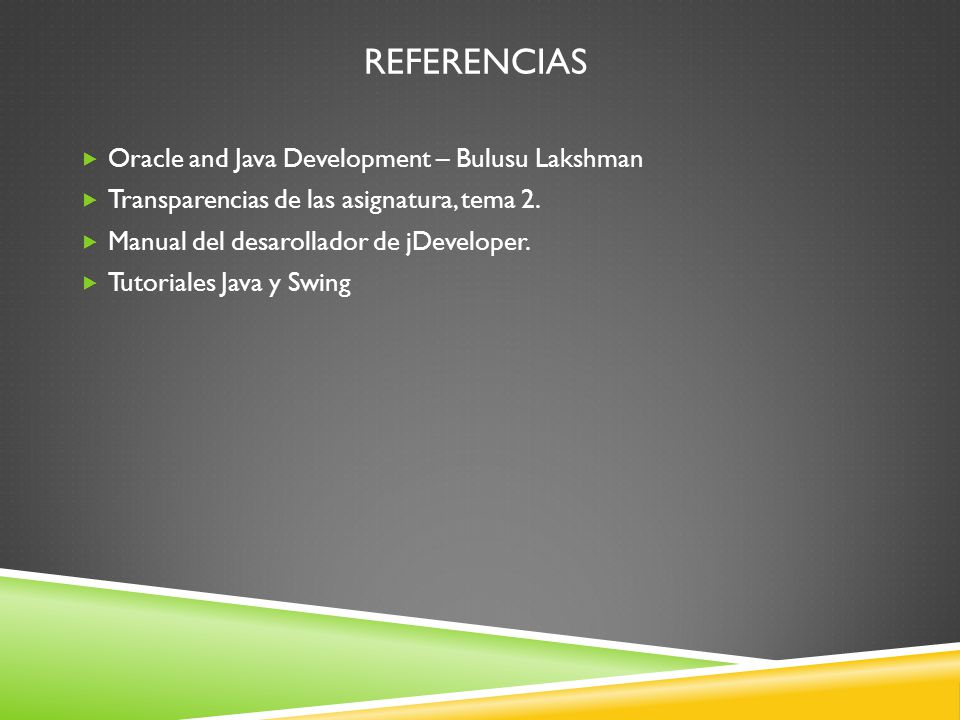 Referencias Oracle and Java Development – Bulusu Lakshman