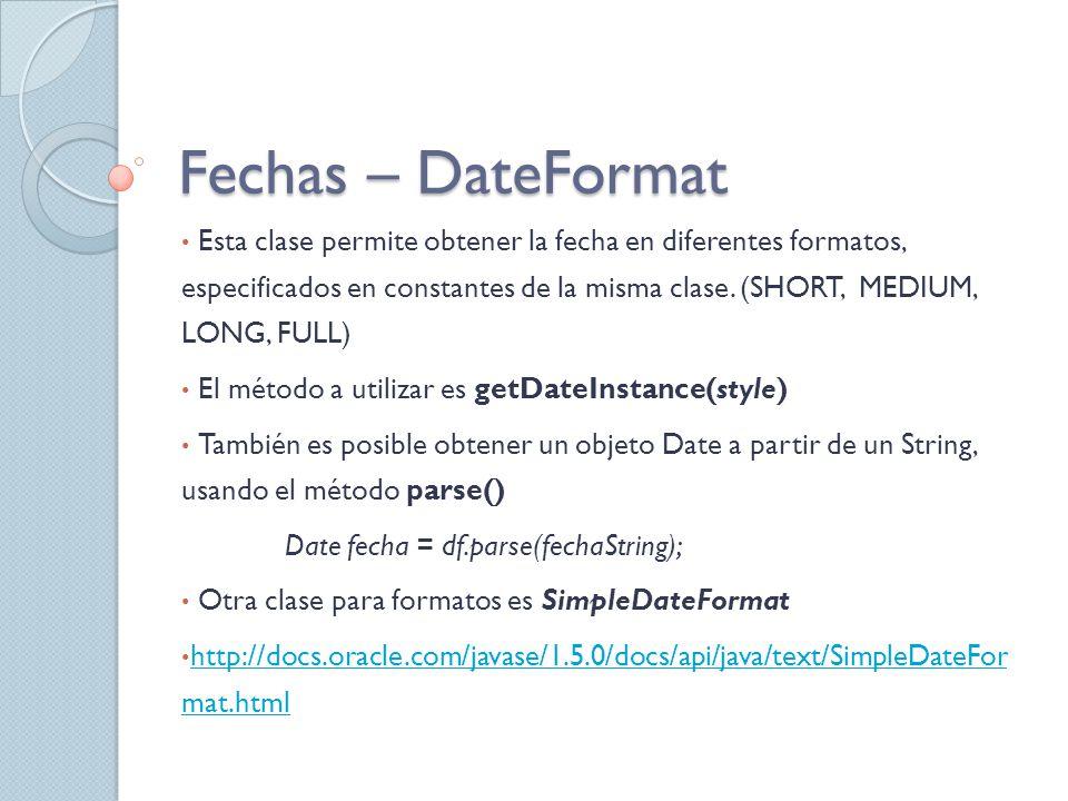 Fechas – DateFormat