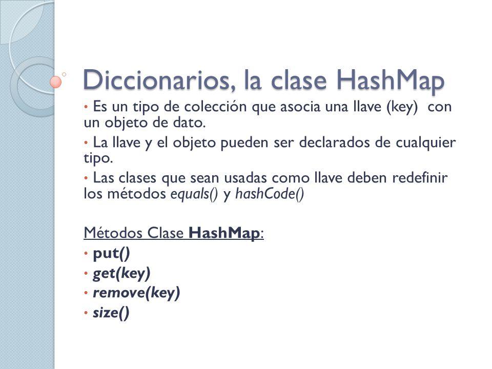 Diccionarios, la clase HashMap