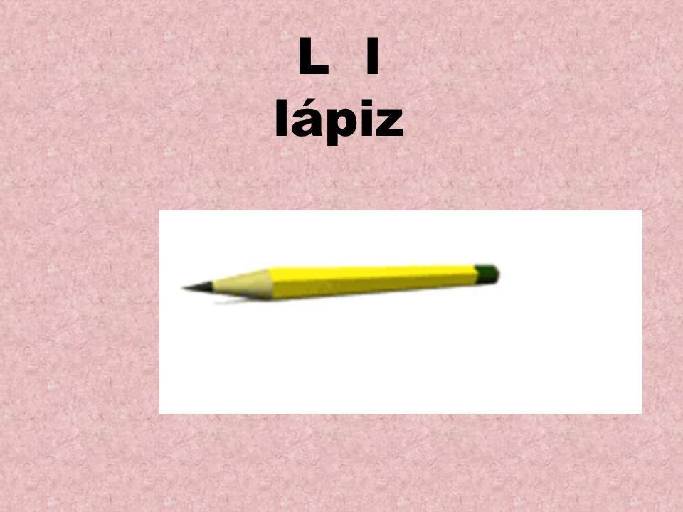 L l lápiz