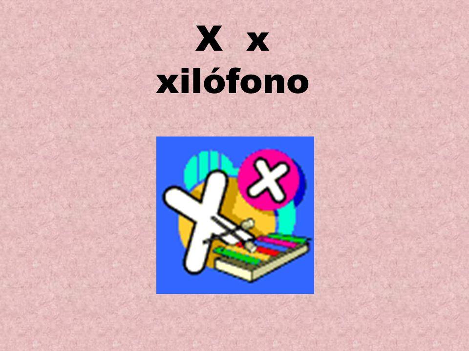 X x xilófono
