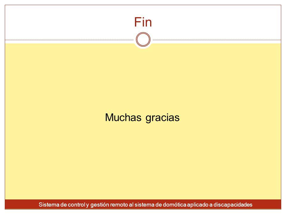 Fin Muchas gracias.