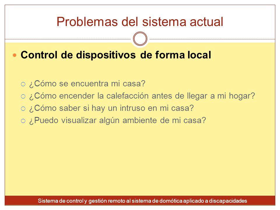 Problemas del sistema actual