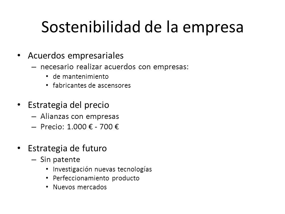 Sostenibilidad de la empresa