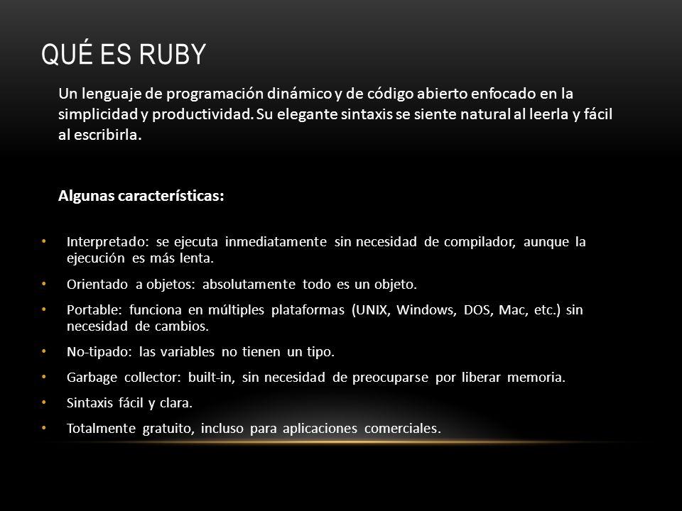 Qué es Ruby