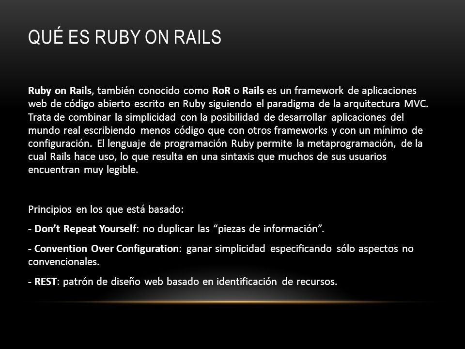 Qué es Ruby on Rails