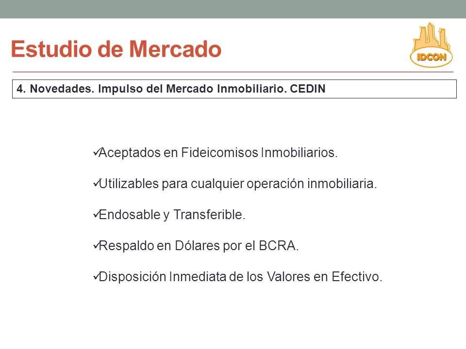 Estudio de Mercado Aceptados en Fideicomisos Inmobiliarios.
