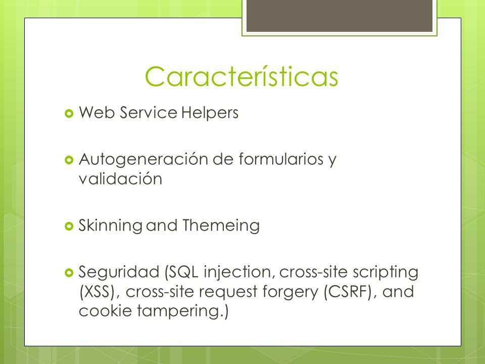 Características Web Service Helpers