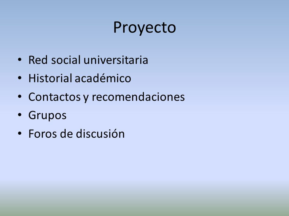 Proyecto Red social universitaria Historial académico