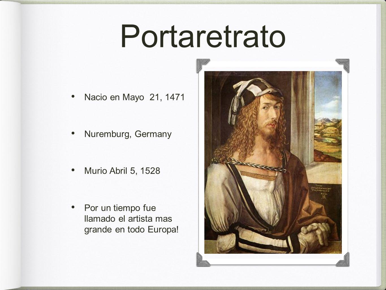 Portaretrato Nacio en Mayo 21, 1471 Nuremburg, Germany