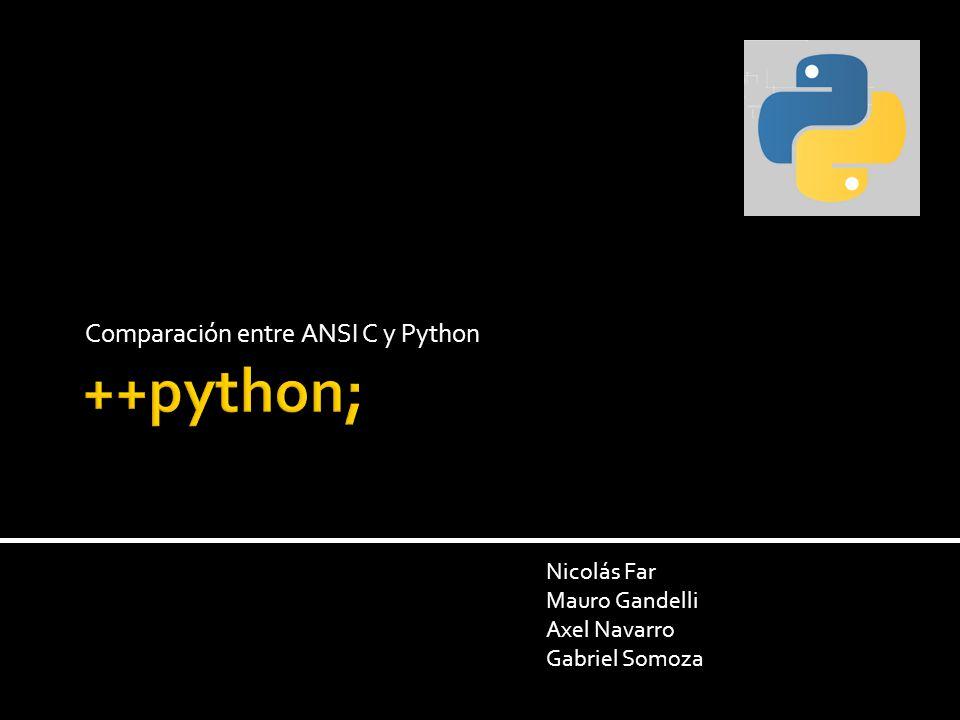 Comparación entre ANSI C y Python