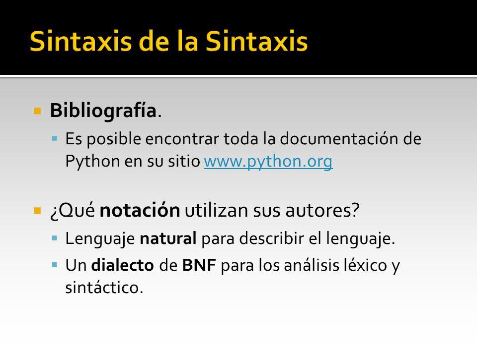 Sintaxis de la Sintaxis