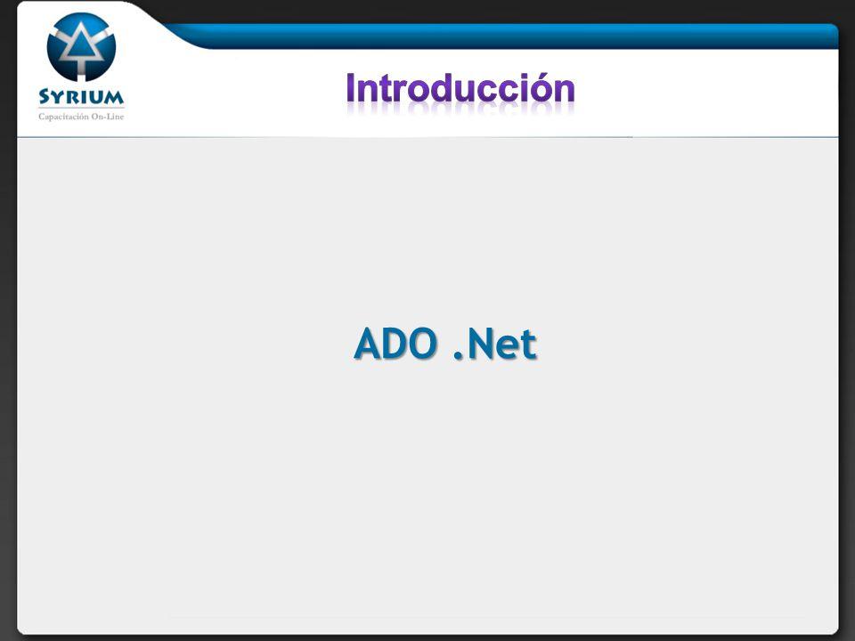 Introducción ADO .Net