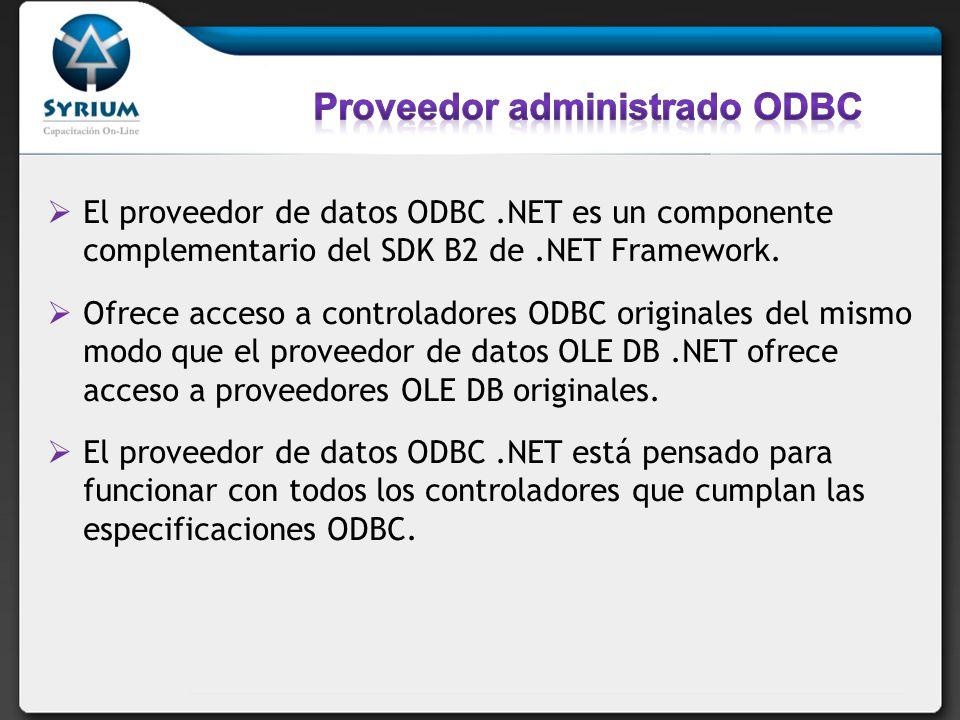 Proveedor administrado ODBC