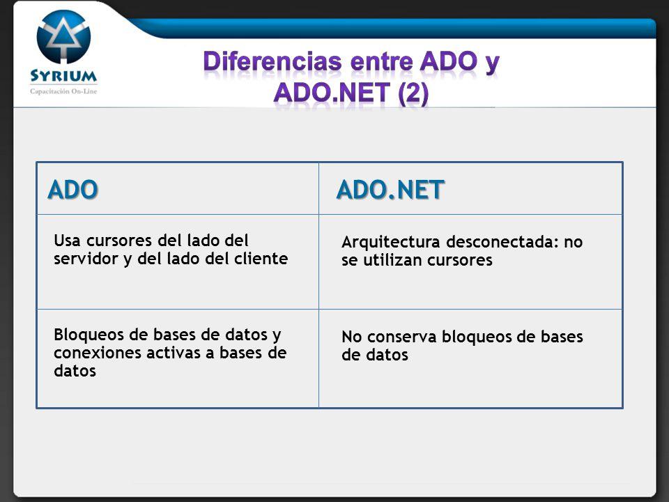 Diferencias entre ADO y ADO.NET (2)