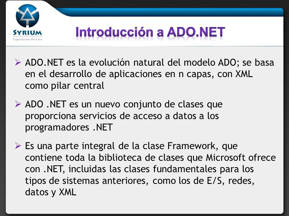 Introducción a ADO.NET