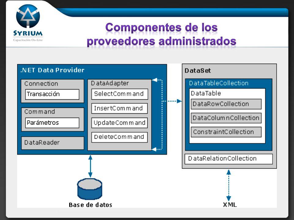 Componentes de los proveedores administrados
