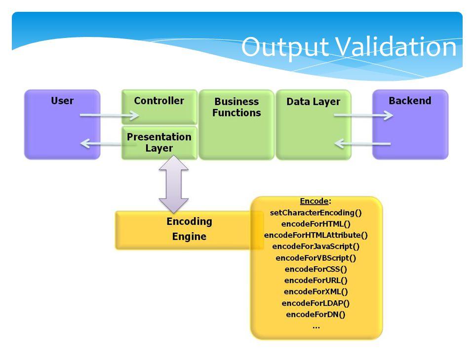Output Validation Dami