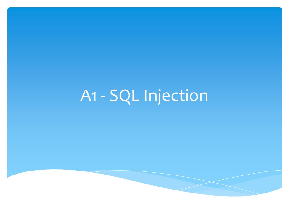 A1 - SQL Injection Andres