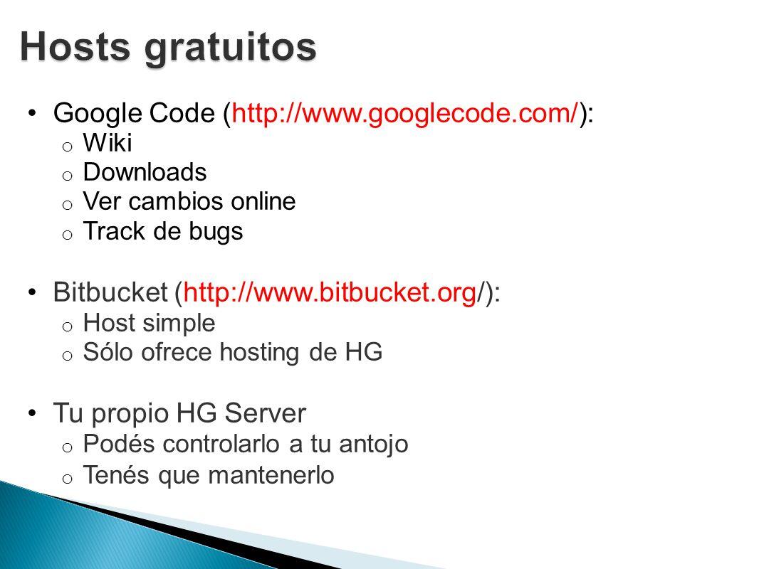 Hosts gratuitos Google Code (http://www.googlecode.com/):