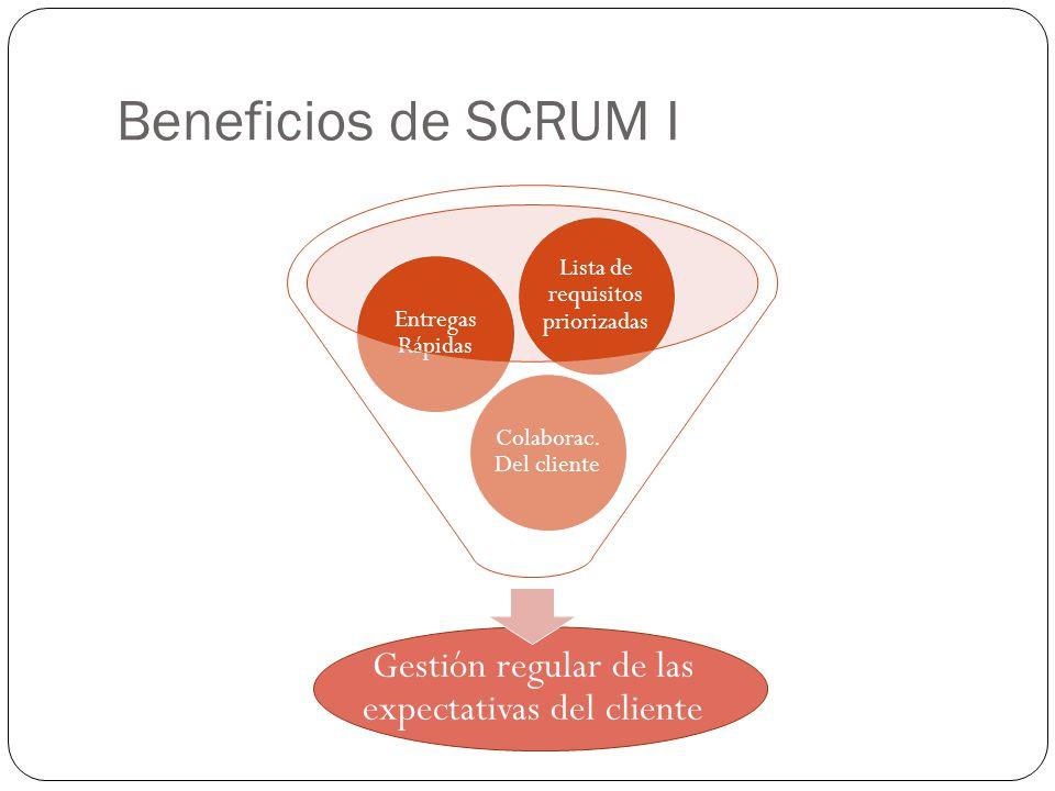 Beneficios de SCRUM I Gestión regular de las expectativas del cliente
