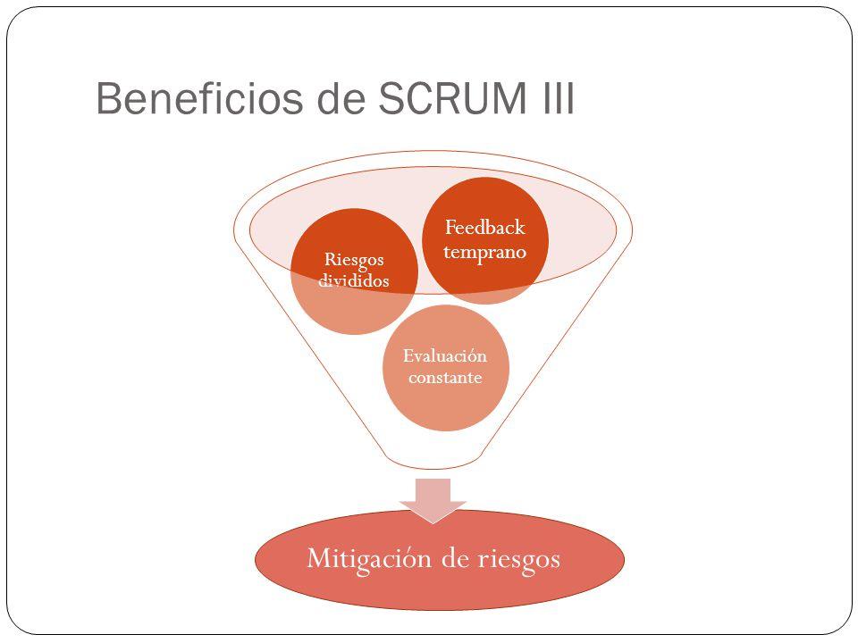 Beneficios de SCRUM III