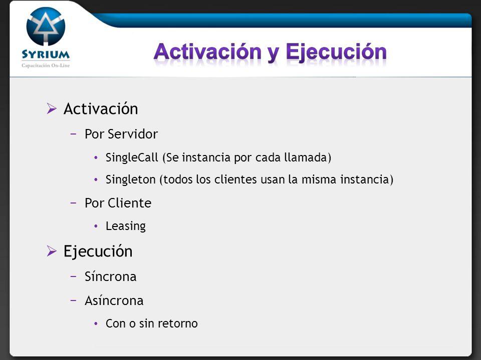 Activación y Ejecución