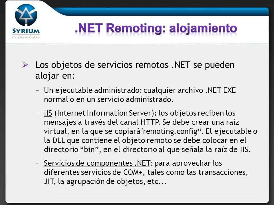 .NET Remoting: alojamiento