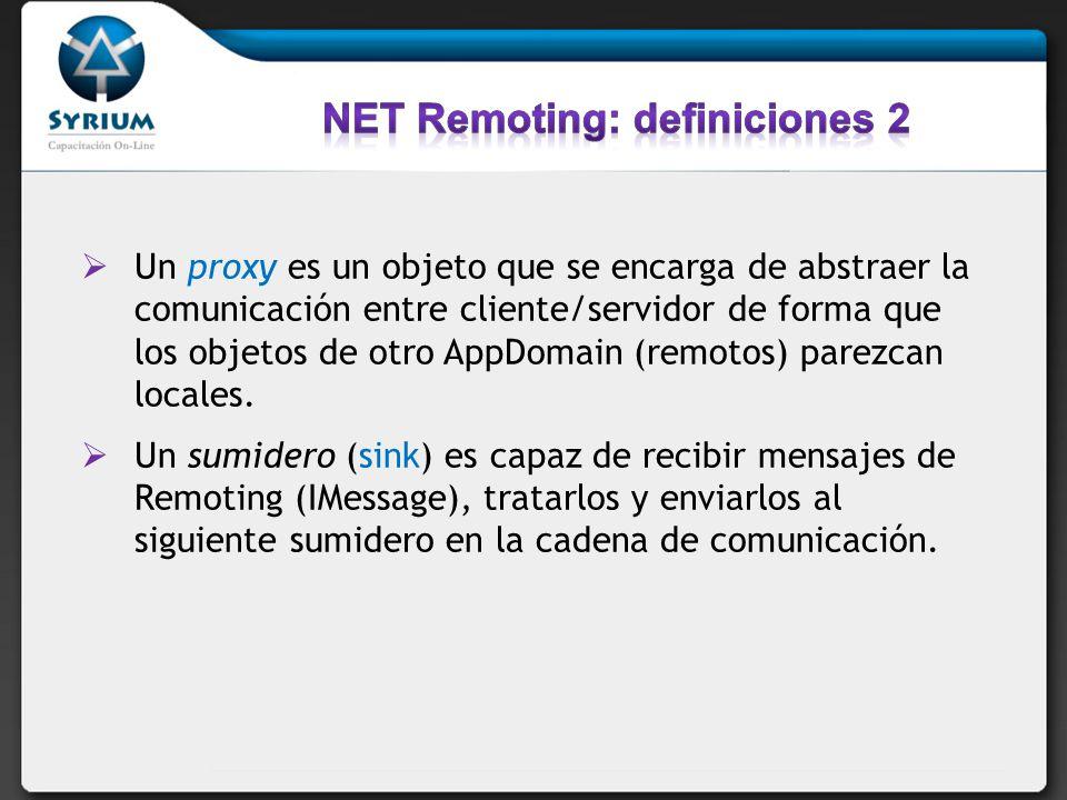 NET Remoting: definiciones 2