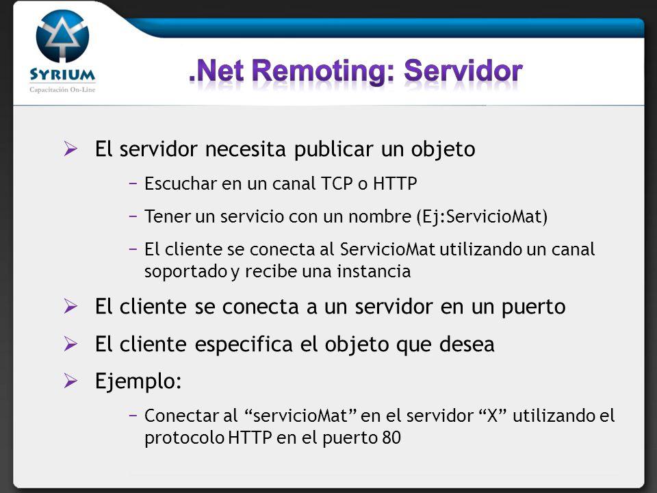 .Net Remoting: Servidor
