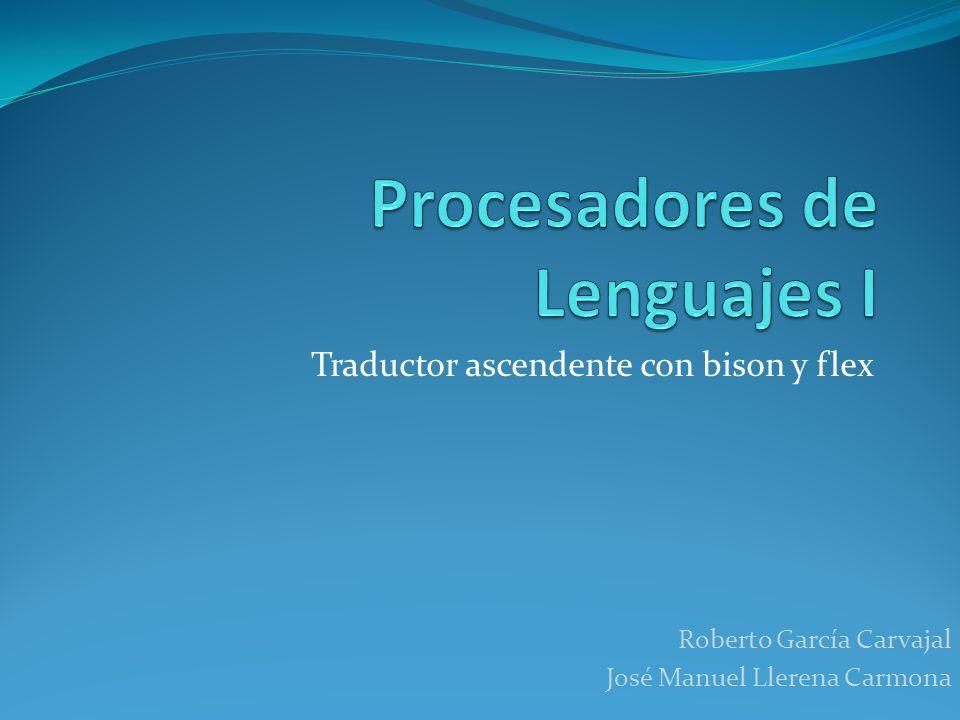 Procesadores de Lenguajes I