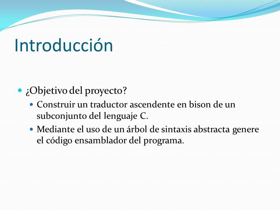 Introducción ¿Objetivo del proyecto