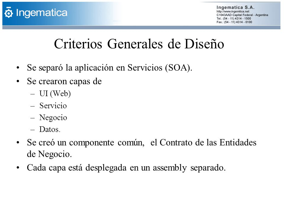 Criterios Generales de Diseño