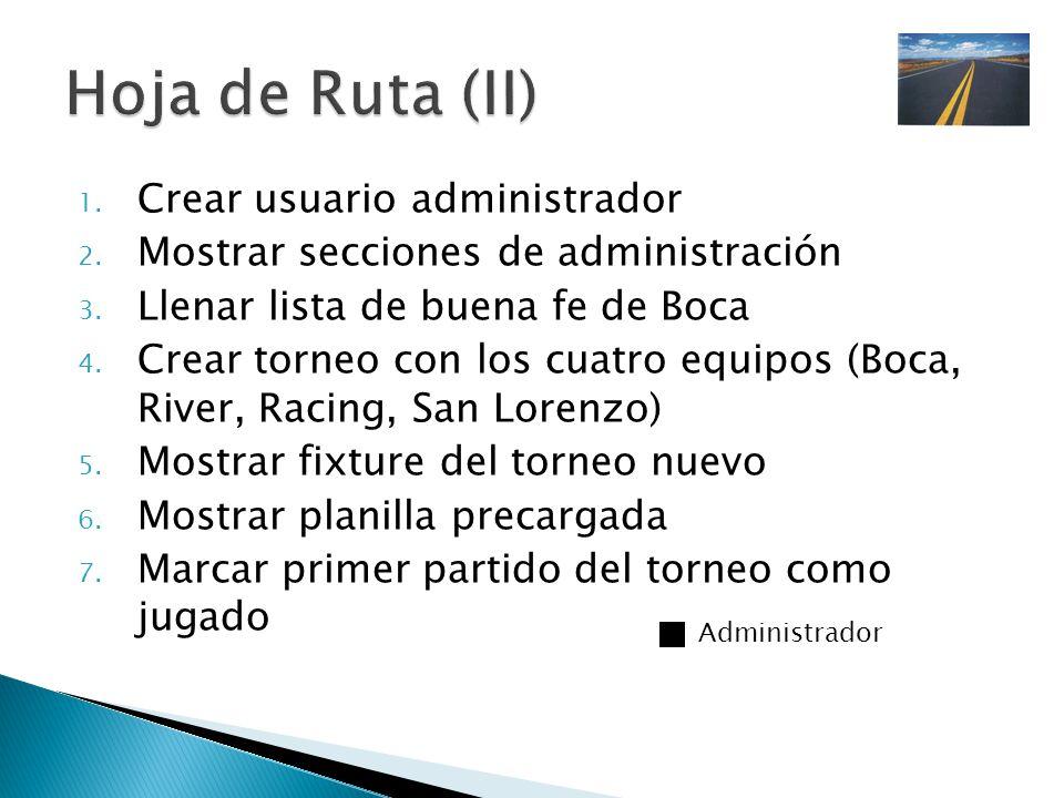 Hoja de Ruta (II) Crear usuario administrador