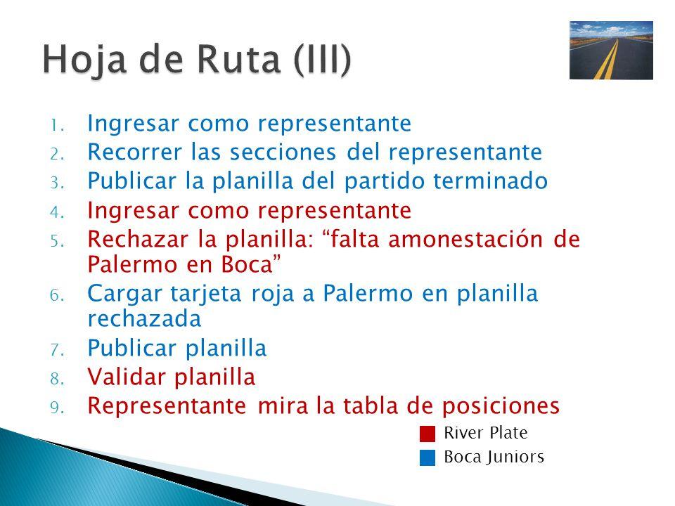 Hoja de Ruta (III) Ingresar como representante