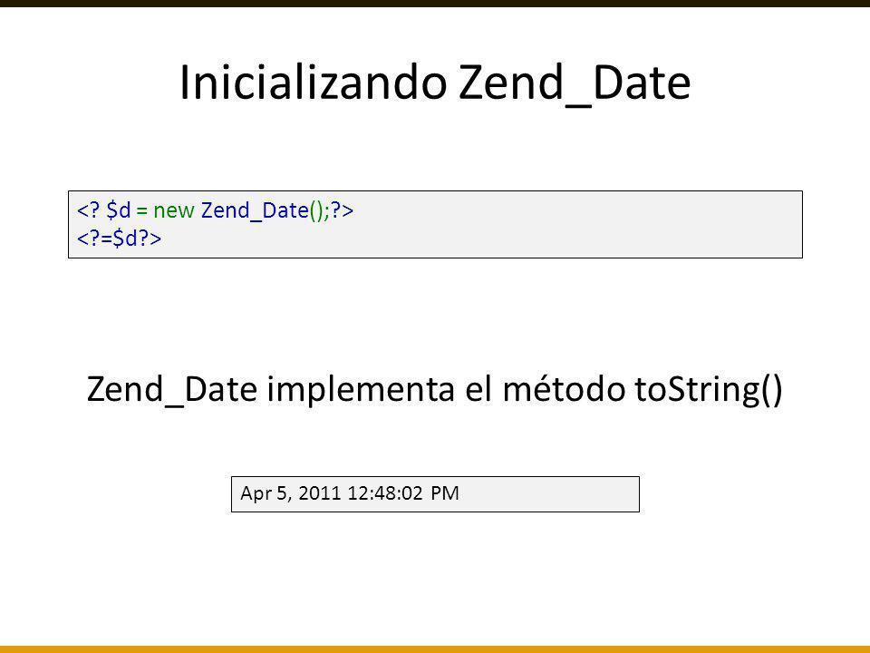 Inicializando Zend_Date