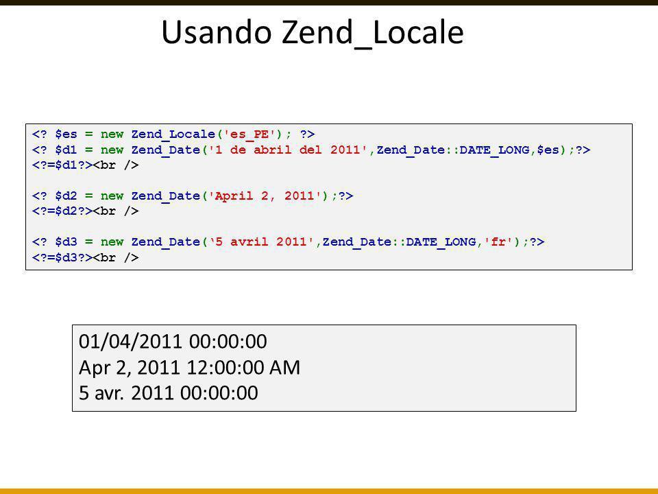 Usando Zend_Locale