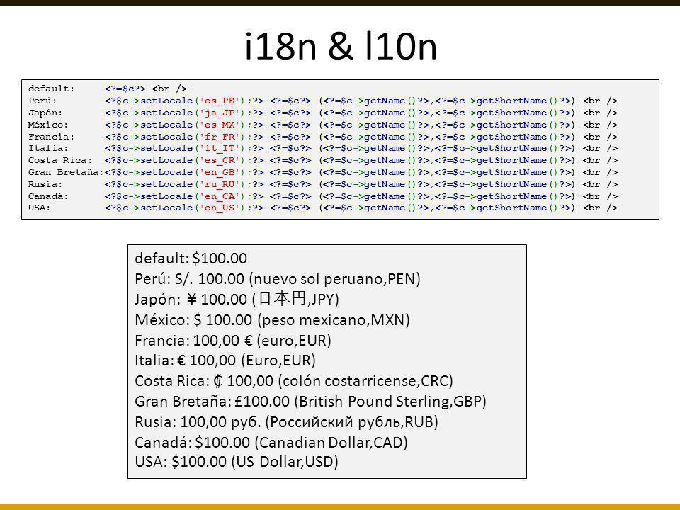 i18n & l10n