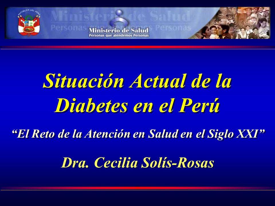 Situación Actual de la Diabetes en el Perú