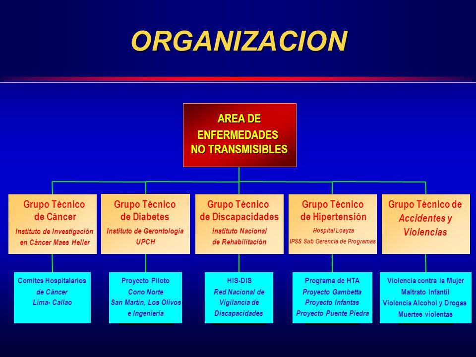 ORGANIZACION AREA DE ENFERMEDADES NO TRANSMISIBLES