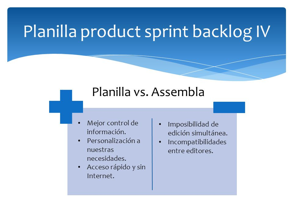 Planilla product sprint backlog IV