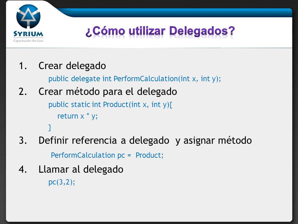 ¿Cómo utilizar Delegados