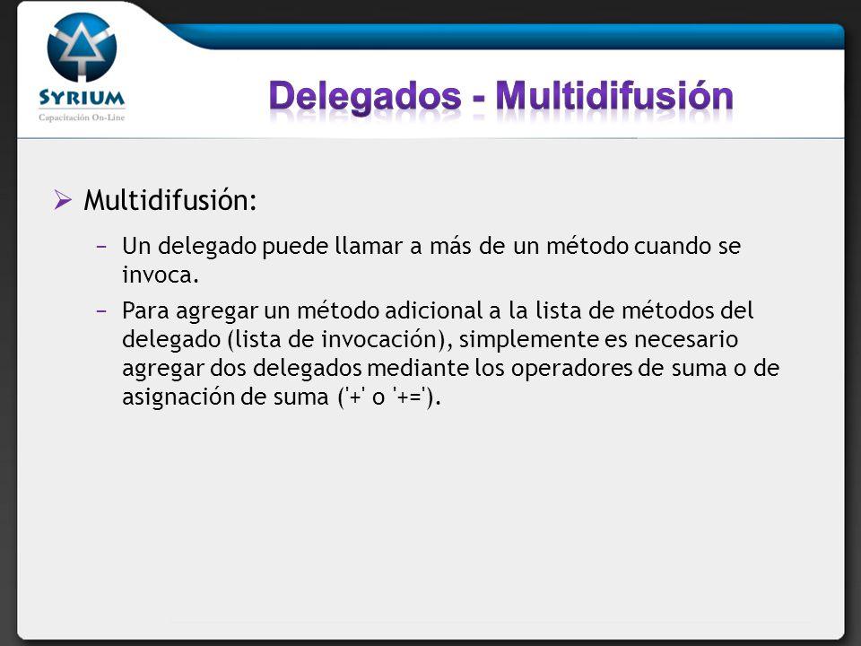 Delegados - Multidifusión