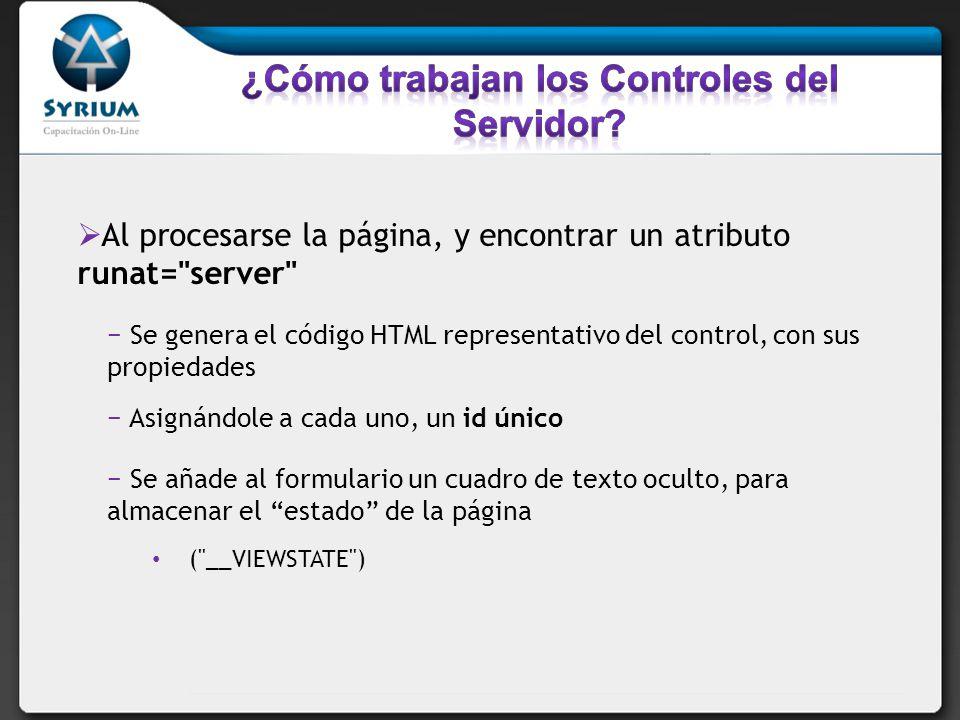 ¿Cómo trabajan los Controles del Servidor