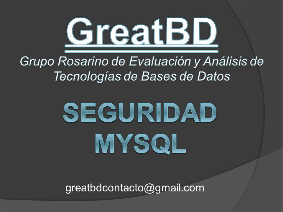 GreatBD Seguridad mysql