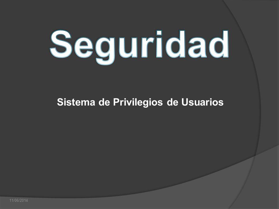 Sistema de Privilegios de Usuarios