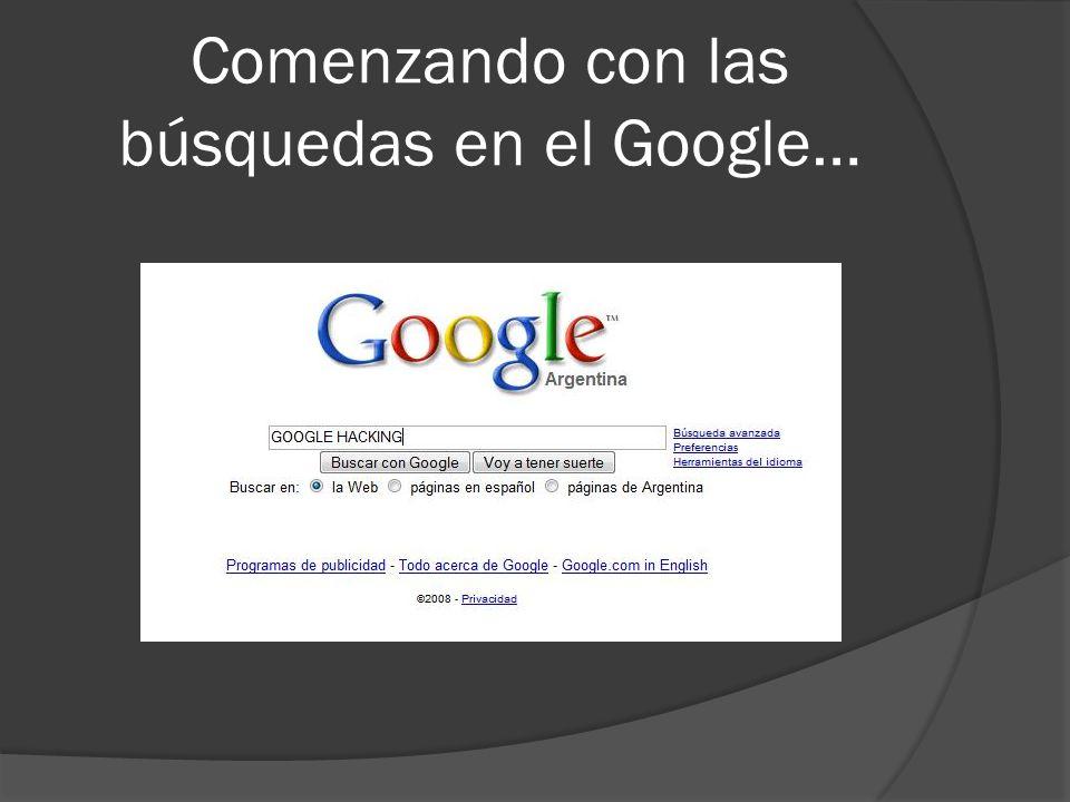 Comenzando con las búsquedas en el Google…