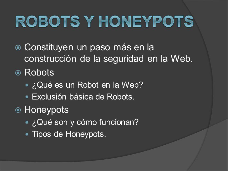 Robots y Honeypots Constituyen un paso más en la construcción de la seguridad en la Web. Robots. ¿Qué es un Robot en la Web