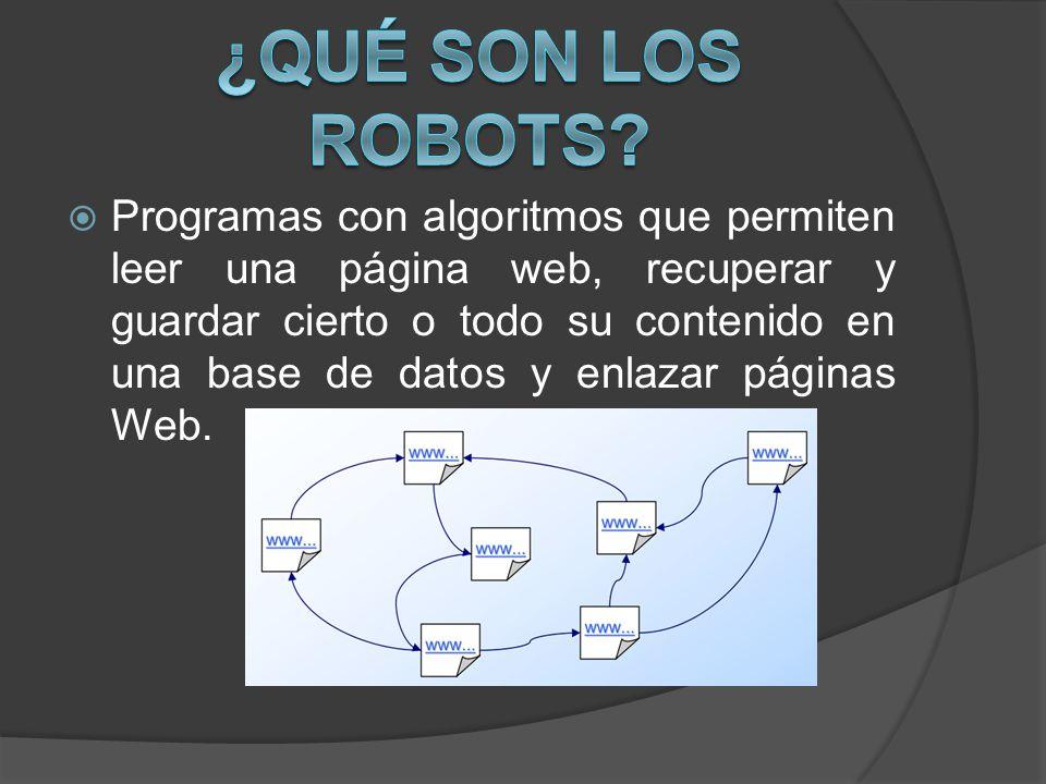 ¿Qué son los Robots